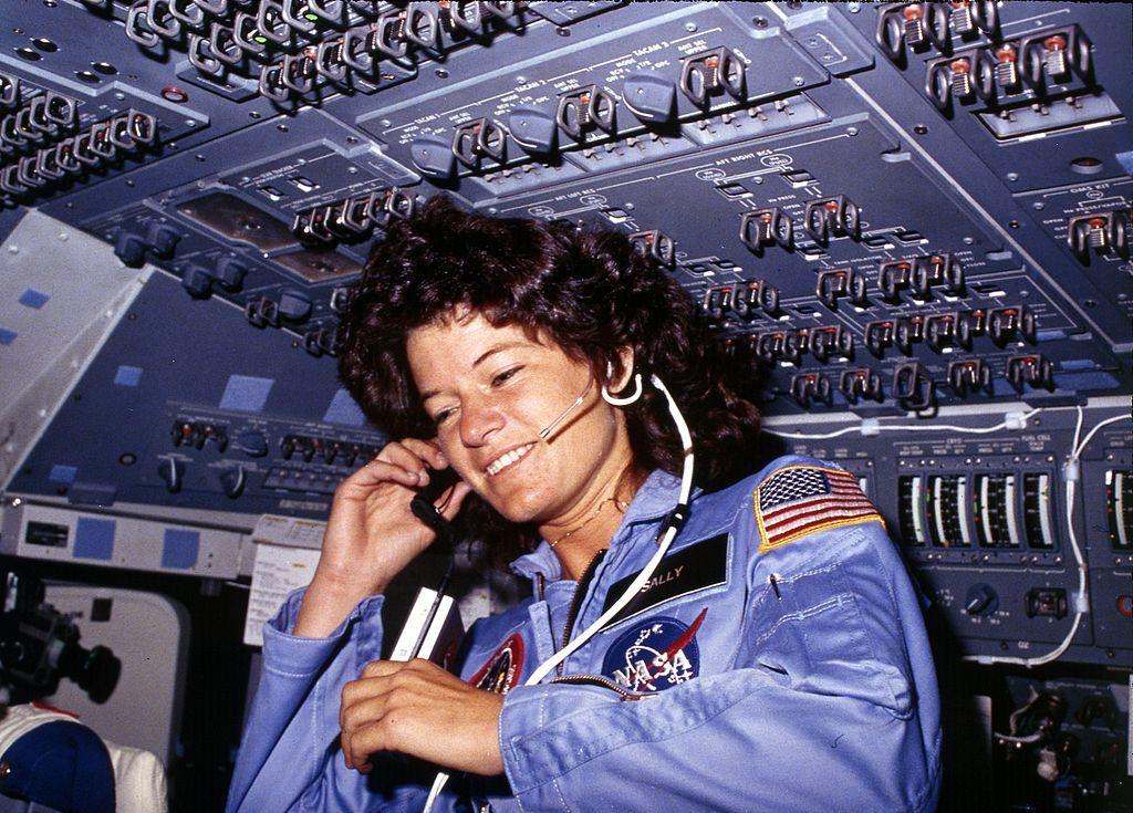 Sally Ride, la primera estadounidense astronauta. NASA