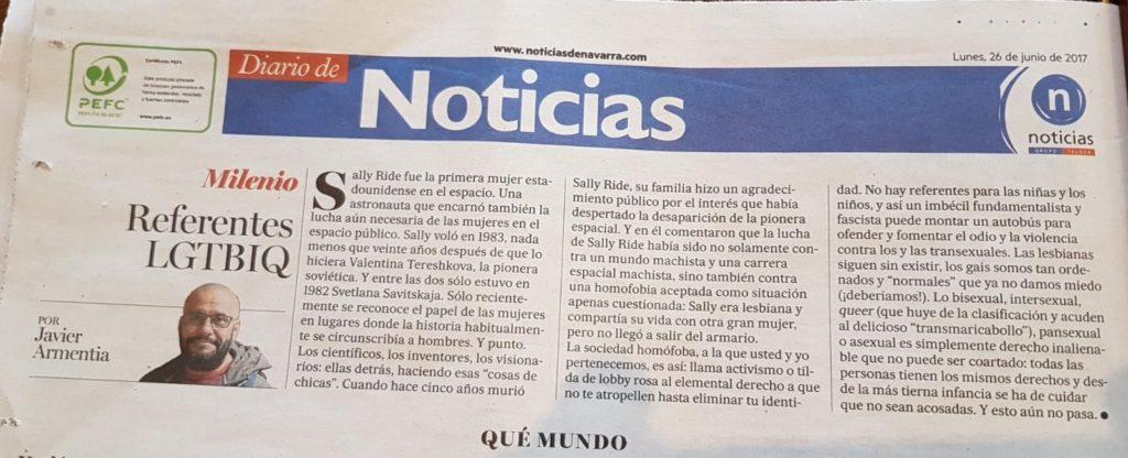 Referentes LGTBIQ (#MILENIO @noticiasnavarra) 2017-06-27
