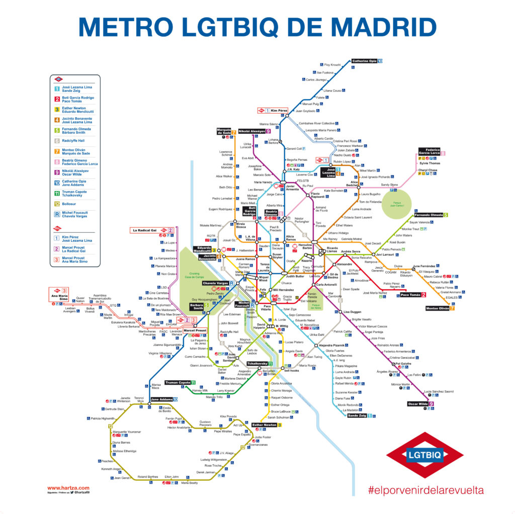 Metro LGTBIQ de Madrid (Javier Sáez)