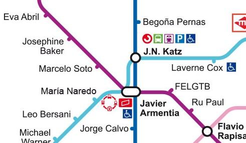 Sección del mapa del Metro LGTBIQ de Madrid (Javier Sáez)