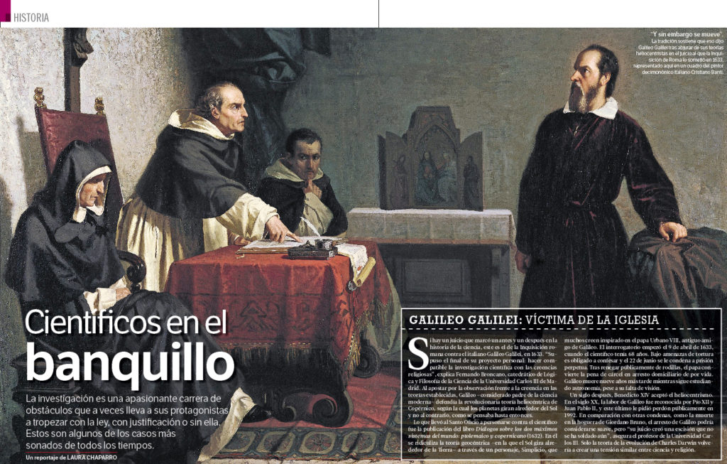 """Portada del reportaje """"Científicos en el banquillo"""", MUY INTERESANTE enero 2016"""